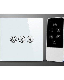 Control de pared para ventilador de techo, controla luz y velocidades del ventilador