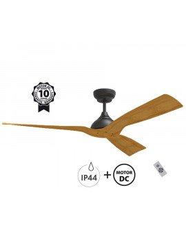 Ventilador de techo para exterior con IP44 modelo Waterwind de 132 cm. Motor DC para 30 m².